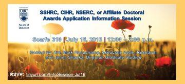 SSHRC, CIHR, NSERC, or Affiliate Doctoral Award Info Session