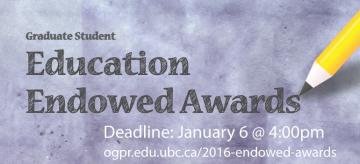 2016 Education Endowed Awards