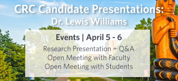 Tier I Canada Research Chair Presentation – Dr. Williams