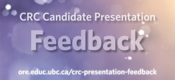 David Robitaille Professorship Presentation Feedback