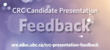 David Robitaille Professorship Presentation Feedback
