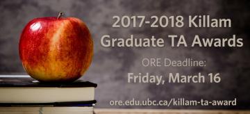 UBC Killam Graduate Teaching Assistant Awards