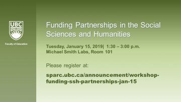 Funding Partnerships in the Social Sciences and Humanities
