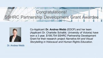 Congratulations SSHRC Partnership Development Grant Awardee!