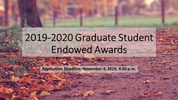 2019-2020 Graduate Student Endowed Awards