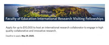 Faculty of Education International Research Visiting Fellowships