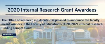 Congratulations to our 2020 Internal Research Grant Awardees!