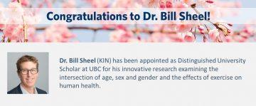 Congratulations to Dr. Bill Sheel!