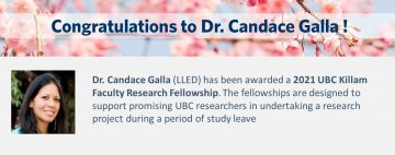 Congratulations to Dr. Candace Galla!